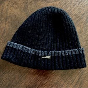 Michael Kors Black Ribbed Knit Beanie